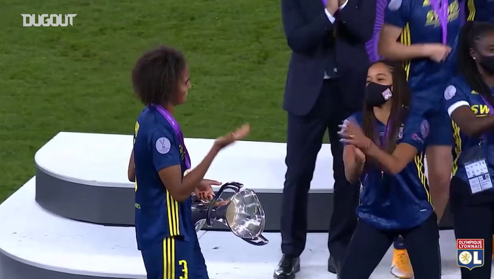Lyon lift Women's Champions League trophy for a fifth time in a row