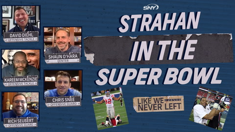 Like We Never Left: Michael Strahan makes noise in the Super Bowl