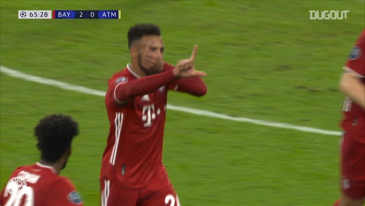 Corentin Tolisso's long-range cracker against Atlético Madrid
