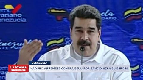 Maduro arremete contra EEUU por sanciones contra su esposa