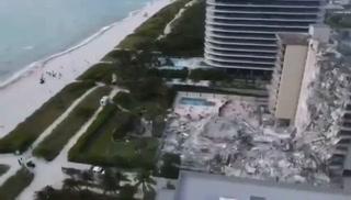 Derrumbe en Miami: Dan a conocer imágenes aéreas