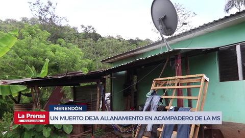 Un muerto deja allanamiento en acampadero de la MS 13 en Merendón