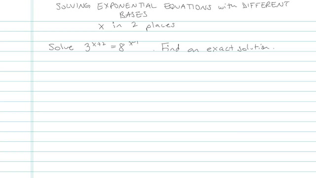 Solving Exponential Equations with the Different Bases - Problem 8