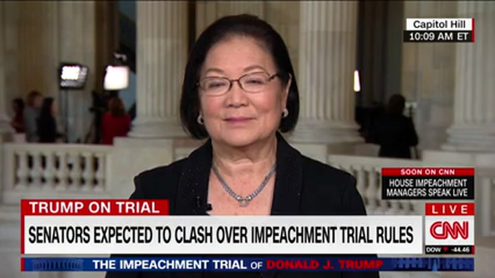 Hirono: Senators That Vote Against Witnesses 'Complicit' in the Cover-Up
