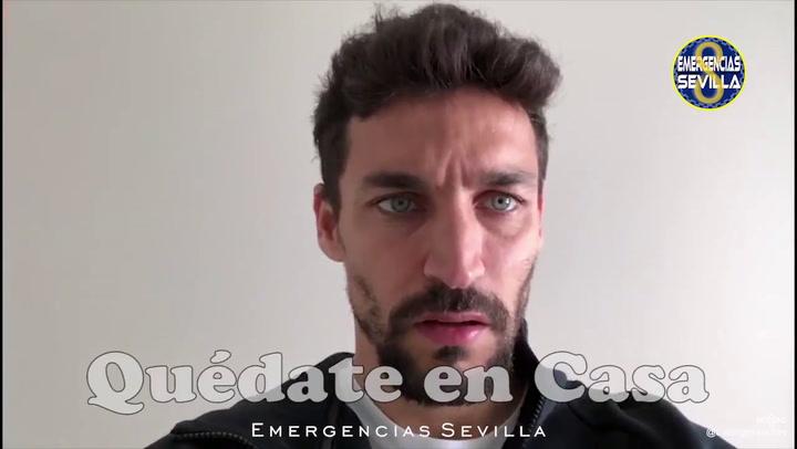 Jesús Navas, del Sevilla, aconseja no desplazarse durante el confinamiento por coronavirus