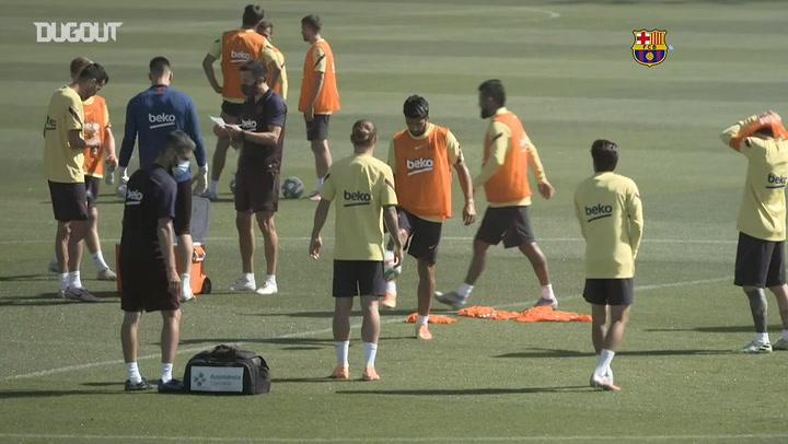 Barcelona preparing for Mallorca clash