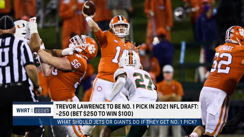 What are the odds the Giants or Jets take Trevor Lawrence No. 1 overall in the 2021 NFL Draft?