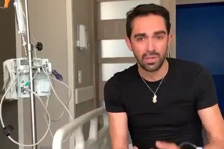 Alberto Contador, ingresado en un hospital de Colombia