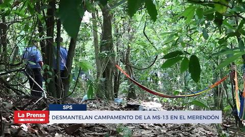 Desmantelan campamento de la MS-13 en El Merendón