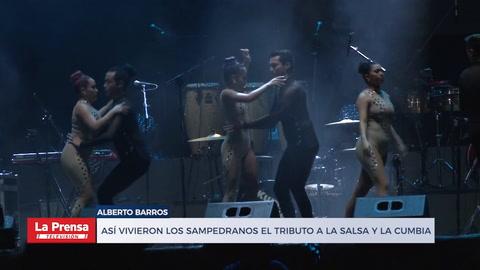 Así vivieron los sampedranos el tributo a la salsa y la cumbia colombiana