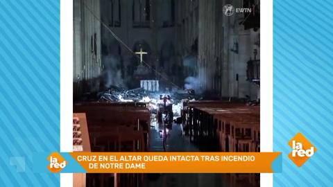 Cruz en el altar queda intacta tras incendio de Notre Dame