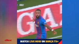El brutal gol de Memphis Depay en el Barcelona-Stuttgart en Alemania