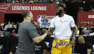 Premier Vegas Sports: LeBron Visits Summer League