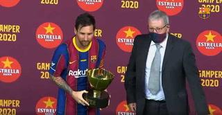 TikTok: El gesto inusual de Lionel Messi cuando recibió el trofeo Joan Gamper con Barcelona