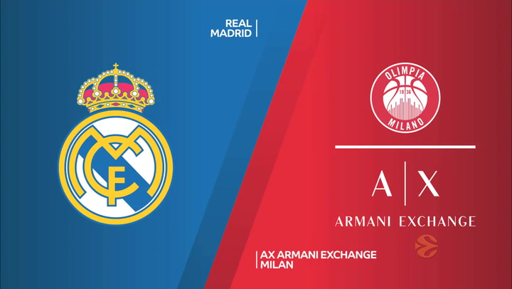 Euroliga: Real Madrid - AX Armani Exchange Milan