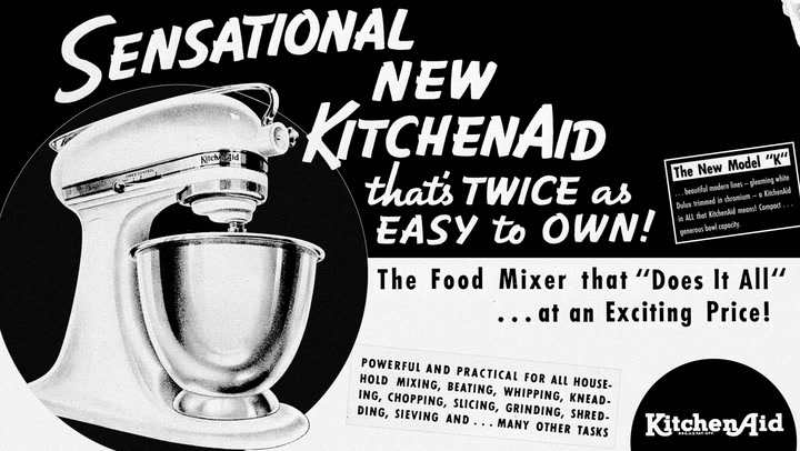 Preview image of KitchenAid Artisan 4.8L Misty Blue Stand Mixer video