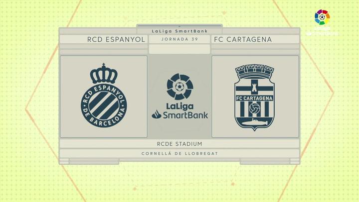 LaLiga SmartBank (J39): Resumen y goles del Espanyol 0-2 Cartagena