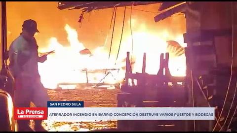 Aterrador incendio en barrio Concepción duró más de una hora