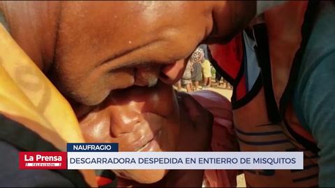 Desgarradora despedida en entierro de misquitos pescadores hondureños