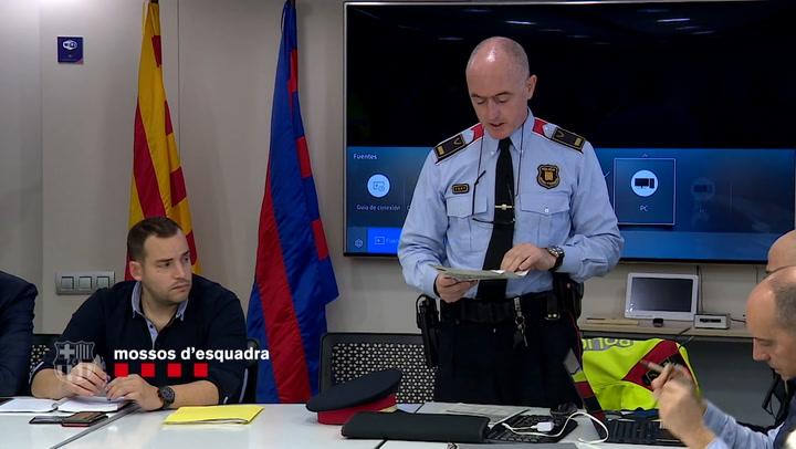 Los Mossos d'Esquadra hacen los últimos preparativos antes del Clásico