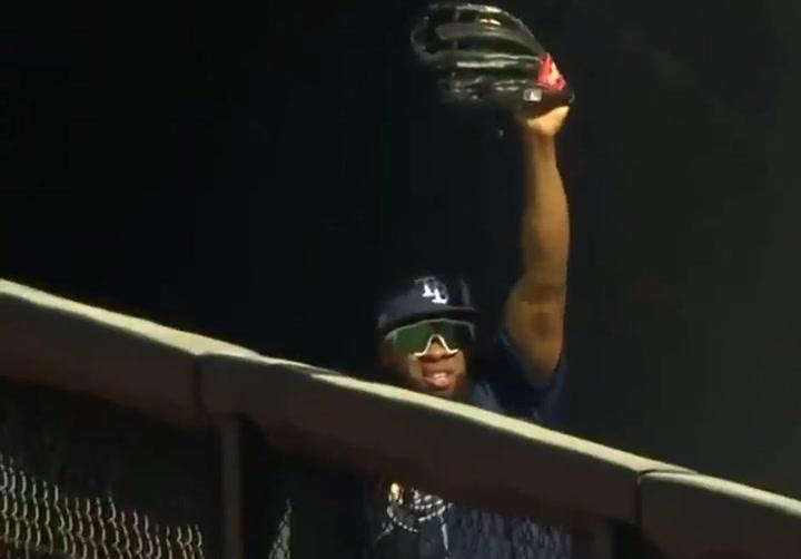Espectacular atrapada de Manuel Margot para los Tampa Bay Rays
