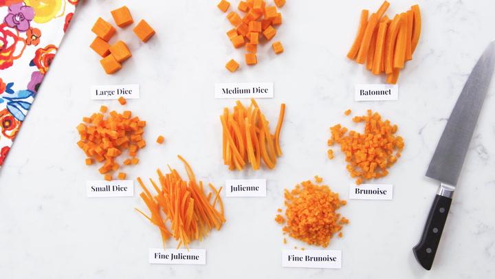 Basic Culinary Arts Knife Cuts And Shapes