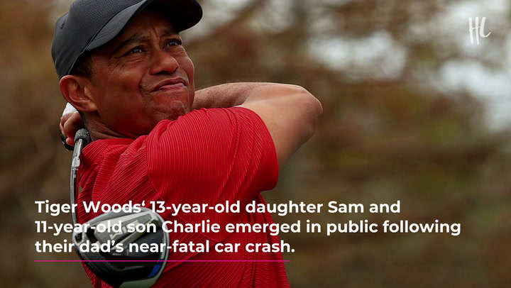 Tiger Woods' Kids Sam, 13, & Charlie, 11,Pictured For The 1st Time With Mom ElinSince Dad's Car Crash