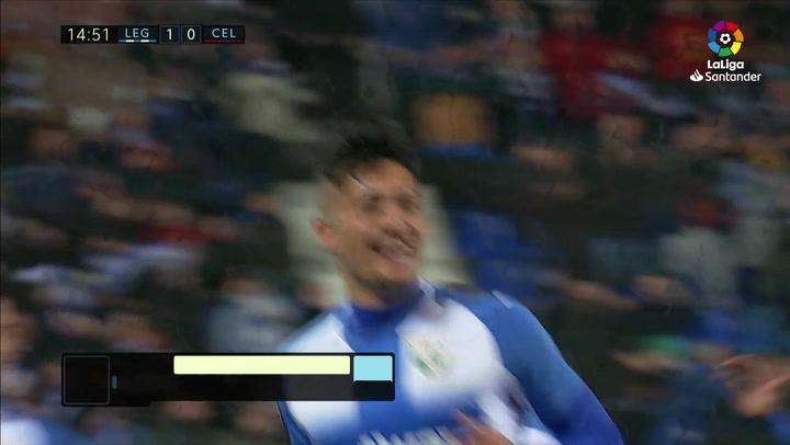 Gol de Óscar (1-0) en el Leganés 3-2 Celta