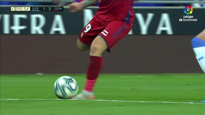 Gol de Roberto Torres (1-4) en el Espanyol 2-4 Osasuna