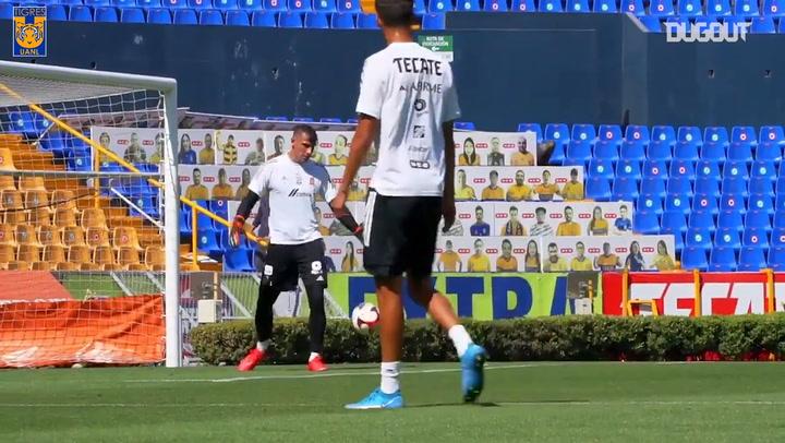 Tigres prepare for their game vs América