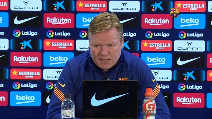 Koeman afirma que no reservará a Messi y De Jong de cara al Clásico