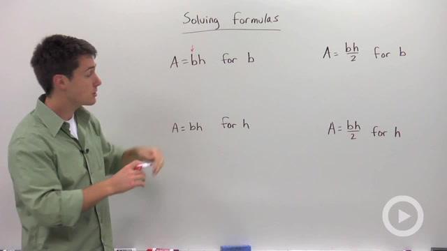 Solving Formulas