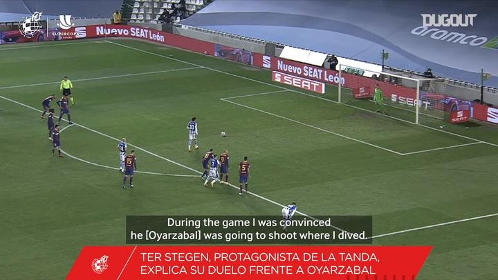 Ter Stegen on his penalty saves vs Real Sociedad