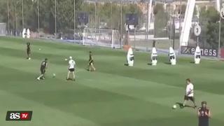 James se encanta con golazo tras asistencia de Zidane en el entrenamiento del Real Madrid