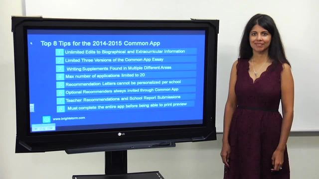 Top 8 tips for the 2014-2015 common app