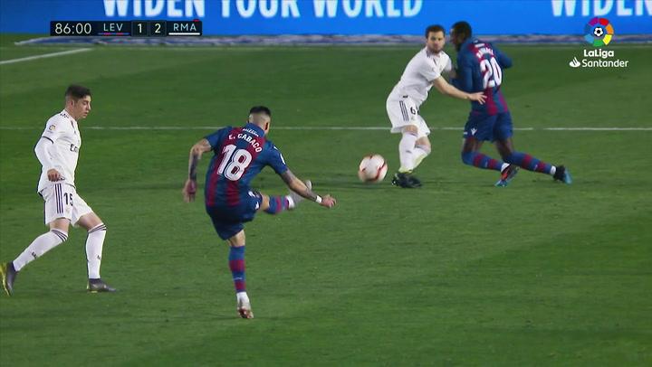 LaLiga: Levante - Real Madrid. Expulsión de Nacho Fernández