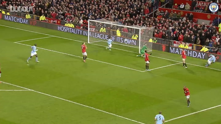Sergio Aguero's solo goal at Old Trafford