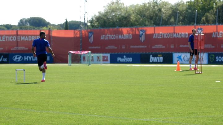 El Atlético sigue trabajando por grupos en Majadahonda
