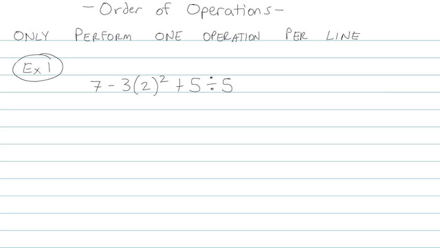 Order of Operations - Problem 5