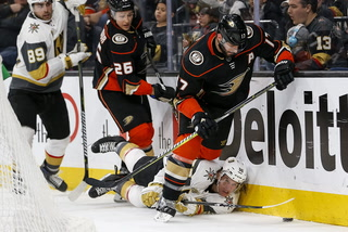 Golden Edge: Knights Fall 2-0 Against Ducks
