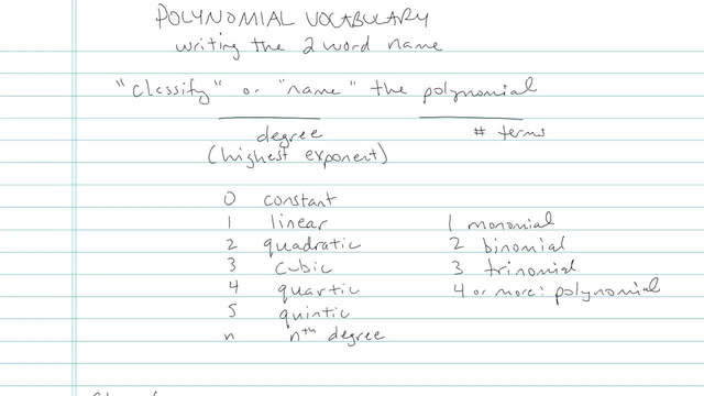 Polynomial Vocabulary - Problem 2