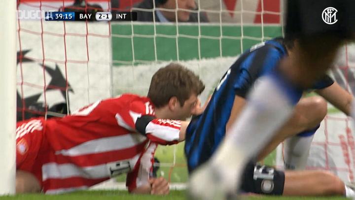 Andrea Ranocchia's last-gasp tackle vs Bayern Munich