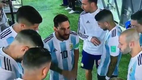 Qué dijo Messi en la arenga en el partido con Nigeria
