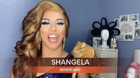 Shangela, winner of the INNOVATOR AWARD at the Queerties