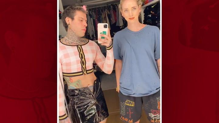 ¿Quién es quién? Chiara y Fedez, los últimos en sumarse al cambio de ropa más famoso de la red