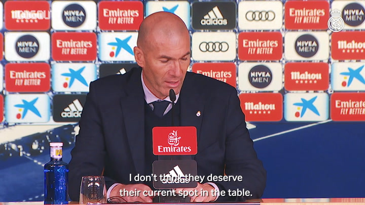 "Zidane: ""We have to be happy at having kept the good run going"""