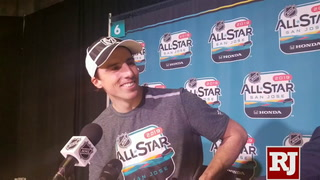 Fleury about scooter at NHL All-Star game