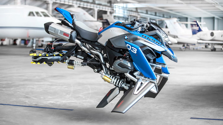 Wheels Where Bmw S Hover Ride Concept Bike Is Going We Don T