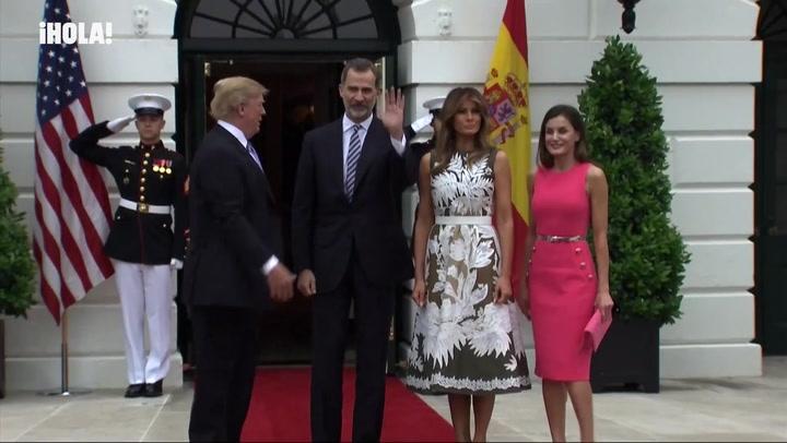 Los gestos más llamativos de la reunión entre los Reyes y los Trump