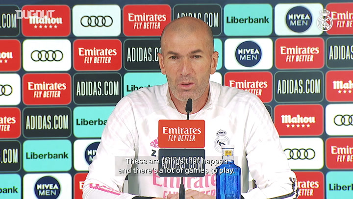 Zinedine Zidane: 'It's a difficult situation, but there's no excuses'